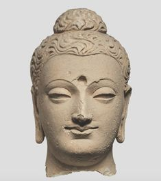 An poster sized print, approx (other products available) - Buddha Head, cent. Found in the Collection of Musee Guimet, Paris. - Image supplied by Heritage Images - poster sized print mm) made in Australia Buddhist Beliefs, Buddhist Symbols, Buddhist Art, Statues, Chinese Figurines, Art Asiatique, Buddha Sculpture, Buddha Head, Grand Palais