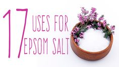 Epsom salt, which is not really a salt at all but a mineral compound comprised of magnesium and sulfate, gets its named from a saline spring at Epsom in Surrey, England.   Epsom salt has been used for centuries as a natural remedy for a number of ailments, and also has many beauty, gardening and household uses.