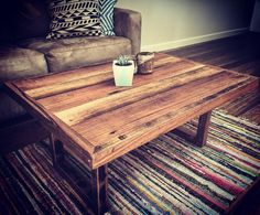 Recycled Hardwood Timber Coffee Table