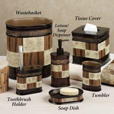 Elegant Bathroom Accessories Sets Ikea With Espresso, Brown And Cream Color