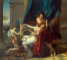 Sappho and Phaon Jacques-Louis David, 1809
