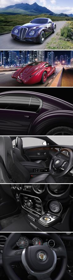 The Eadon Green 'Black Cuillin' Coupe is a bespoke, coach built luxury Grand Tourer. Inspired by classic Art Deco design, it recalls the drama and romance of 1930s GTs.