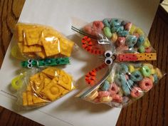 Butterfly treats: fill with almost anything!! Great for hikes with the kids, camping adventures, classroom treats, spring party treats, or making-your-own birthday treats!!