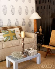 Natural living room at ELLE Decor