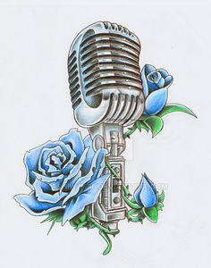 - Vintage Mic With Roses Lineart by Skykittens @DeviantArt.com - #Music #Microphone #Artwork #Roses #illustration #Mic #MusicArt #Voice #Vocals  http://www.pinterest.com/TheHitman14/headphones-microphones-%2B/