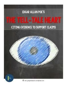 """The Tell-Tale Heart: Cite Evidence. A complete lesson plan with all materials and an answer key to help students learn how to evaluate and cite evidence using Poe's """"The Tell-Tale Heart"""" Teaching Strategies, Teaching Tools, Teacher Resources, Citing Textual Evidence, Text Evidence, Middle School Ela, Middle School English, High School, 7th Grade Ela"""