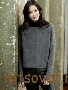 Вязаный пуловер для женщин серого цвета http://hitsovet.ru/vyazanyj-pulover-dlya-zhenshhin-serogo-cveta/