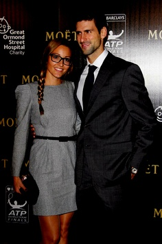 Novak Djokovic and girlfriend Jelena Ristic (love her style, and this outfit!)
