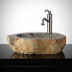 Iron Creek Natural Stone Vessel Sink