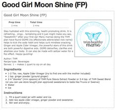 I took the good girl moonshine recipe from Trim Healthy Mama, boosted the nutritional value and gave it some extra kick! Sip all day or serve at parties!