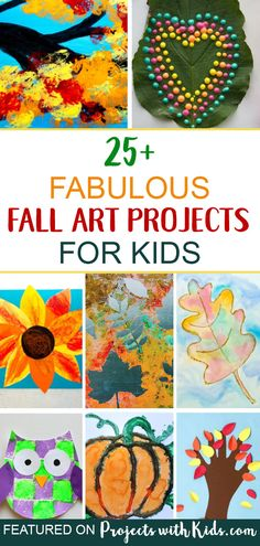 These fabulous fall art projects for kids will inspire creativity and fun! Autumn Crafts, Autumn Art, Autumn Theme, Holiday Crafts, Thanksgiving Crafts, Autumn Activities For Kids, Fall Crafts For Kids, Kids Crafts, Art For Kids