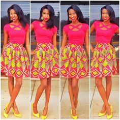 The Belle Skirt 100 Ankara African Wax print by LiLiCreations, $65.00