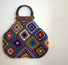 #Crochet granny square bag
