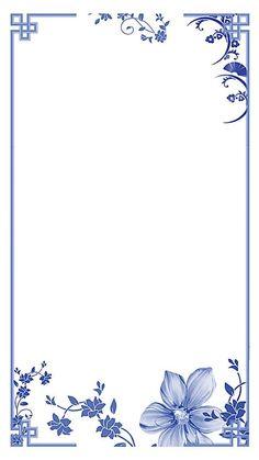 Chinese style blue and white background border White Background Wallpaper, Blue Background Images, Page Background Design, Blue White Background, Background Banner, Pattern Background, Chinese New Year Wallpaper, Chinese New Year Background, Frame Border Design