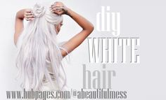 DIY Hair: How to Get White Hair White hair is hard to achieve, but I'll show you how to get ther Dyed White Hair, White Hair Toner, Silver White Hair, Silver Blonde Hair, White Blonde, Platinum Blonde Hair, Blonde Hair At Home, Ice Blonde Hair, Icy Hair