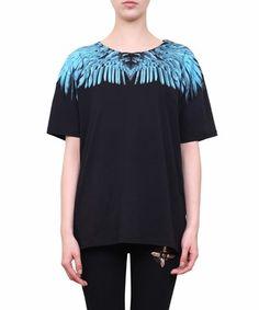 Marcelo Burlon County Of Milan Rigel Cotton T-shirt In Nero Blue Short Sleeve Tops, Short Sleeves, Great T Shirts, Cotton Tee, Shirt Designs, Tunic Tops, Milan, Men's Fashion, Clothes
