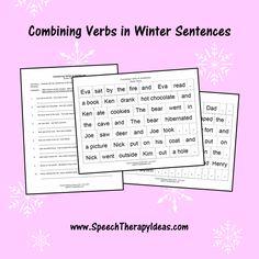 Combining Verbs in Winter Sentences