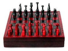 Wood and leather chess set, 'African Challenge'. Chess pieces take up the challenge for a peaceful battle on the playing field. More NOVICA Treasures. LEARN MORE ABOUT NOVICA. Sese wood and leather. Learn Woodworking, Woodworking Plans, Woodworking Projects, Wood Turning Projects, Diy Wood Projects, Welding Projects, Fun Projects, Wood Chess Board, Ronnie Wood