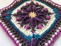 Macey Ann ~ Large Granny Square - Free pattern will soon be released on my Ravelry page at https://www.ravelry.com/designers/pam-knighton-haener