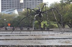 I don't want to alarm anyone, but there is a giant spider roaming around Houston!  See it before July 8, 2014 at Hermann Park!