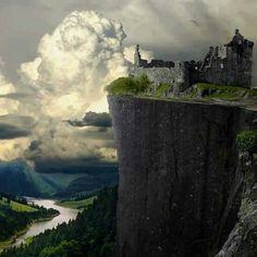 Cliff castle in Ireland
