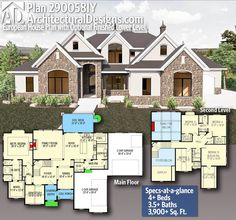 Plan European House Plan with Optional Finished Lower Level House Plans 2 Story, Sims House Plans, New House Plans, Dream House Plans, House Floor Plans, Floor Plans 2 Story, 6 Bedroom House Plans, Custom Floor Plans, House Plans Mansion