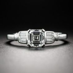 .80 Carat Square Asscher-Cut Diamond Ring GIA G/SI1 - All Engagement Rings - Engagement