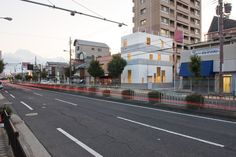 Extraordinary Contemporary Home Design in Japan: Awesome Street View Of K House Show The Modernity With White Painted Wall Gold Interior Lig. Gold Interior, White Paints, Interior Lighting, Osaka, Interior Architecture, Street View, House Design, Japan, Contemporary
