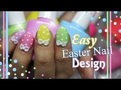 Easter Nail Art   Short acrylic nails with gel polish Easter design - http://47beauty.com/nails/index.php/nail-art-designs-products/ ♥How I create easy Easter/spring nail art using gel polish ! Follow me on instagram: @nailfairyacrylics Follow me on Twitter: @ninjanailfairy ♥Don't forget to subscribe for NEW videos !! Find the gel polishes here – ♥ http://www.lovecandycoat.com/ ♥LIKE ♥ HIT THAT THUMBS UP LETS GET 250 LIKES!! ♥My store link : http://ww