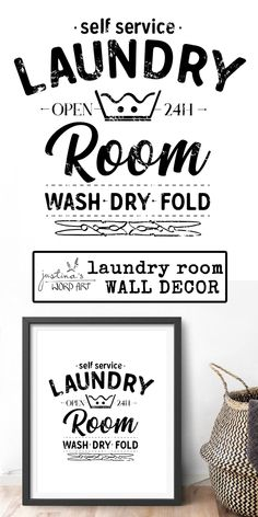 Minimalist Home Decor, Laundry Room Art, Black and White Retro Utility Room Printable Wall Art, House Warming Gift Mirror Decal, Wall Decals, Laundry Room Art, Hanging Fabric, Wall Paper Phone, Kitchen Wall Colors, Diy Projects For Kids, Room Wall Decor, Cool Walls