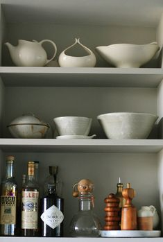 love open shelving in the kitchen!