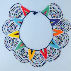 Zulu beaded collar necklace