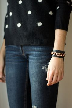 DIY leather cuff bracelet by Le.Fanciulle