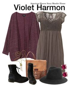 A fashion look from December 2017 featuring purple cardigan, laced boots and courier bags. Browse and shop related looks. Soft Grunge Outfits, Grunge Dress, Boho Outfits, Cute Outfits, Indie Fashion, 90s Fashion, Vintage Fashion, Polyvore Outfits, Polyvore Fashion