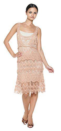 Women's Crocheted Sheer Doily Tier Lace Vintage 20s Inspired Romantic Slip Dress (S/M, Dusty Rose) Moon River http://www.amazon.com/dp/B00PZ10VNK/ref=cm_sw_r_pi_dp_Uvfcvb19D4NS3