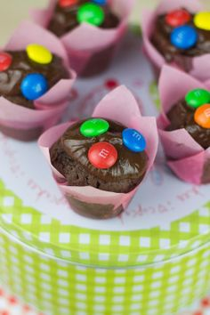 Objetivo: Cupcake Perfecto.: Mini muffins de chocolate con M&M's