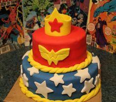 Wonder Woman cake --dc super friends birthday party