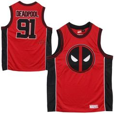 Deadpool Wade Wilson Marvel Comics Licensed Basketball Jersey Tank Top S-XXL  #Wilson #Jerseys