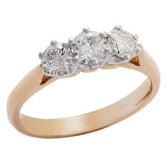 1ct of Diamonds 18ct Gold Diamond 3 Stone Ring - Diamond - Rings - Jewellery - The Warehouse