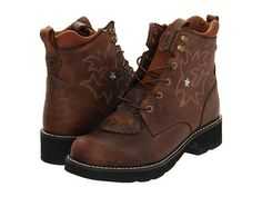 Ariat Probaby Lacer Driftwood Brown - Zappos.com Free Shipping BOTH Ways.  Brown Cowboy BootsLace ...