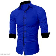 Checkout this latest Shirts Product Name: *SHIRTS* Fabric: Cotton Blend Sleeve Length: Long Sleeves Pattern: Solid Multipack: 1 Sizes: S, M, L, XL, XXL Country of Origin: India Easy Returns Available In Case Of Any Issue   Catalog Rating: ★4.1 (245)  Catalog Name: Trendy Fashionable Men Shirts CatalogID_2026279 C70-SC1206 Code: 344-10948417-3711
