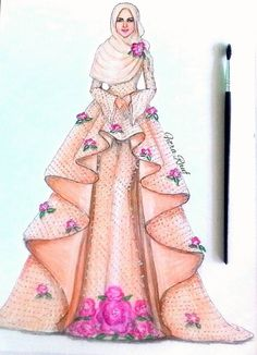 Trendy Design Dresses Drawing Muslim 32 Ideas Source by ideas drawing Dress Design Drawing, Dress Design Sketches, Dress Drawing, Fashion Design Drawings, Fashion Sketches, Fashion Drawing Dresses, Fashion Illustration Dresses, Fashion Sketchbook, Arte Fashion