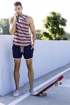 Wilhelmina LA male model Dima Gornovskyi by Sonny Tong. Los Angeles, 2015