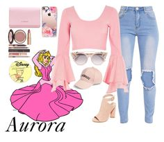 """""""Aurora"""" by disneyonrepeat ❤ liked on Polyvore featuring Disney, River Island, Kendall + Kylie, Casetify, Givenchy, Charlotte Tilbury, Jimmy Choo, Amici Accessories, disney and disneybound"""