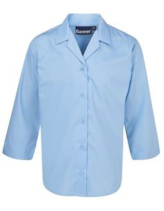 Rever Blouse 3/4 Sleeve - Blue (Twin Pack)