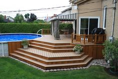 simple deck designs pictures simple deck designs for above ground pools backyard design ideas photo of fine patio pictures homes deck designs backyard deck patio ideas pictures Above Ground Pool Landscaping, Above Ground Pool Decks, In Ground Pools, Backyard Landscaping, Landscaping Ideas, Pool Backyard, Luxury Landscaping, Backyard Patio Designs, Pergola Designs