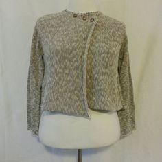 """HP 2/7 Willow Knit Sweater Willow Knit Sweater has 3 button closure and rolled ends. Sweater can be worn open or buttoned. 60% Cotton 40% Polyester, 22"""" length, 22"""" sleeves, size XL Willow Sweaters"""