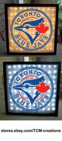 MLB Major League Baseball Toronto Blue Jays shadow boxes with LED lighting