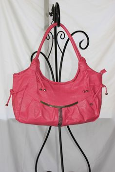 Large Crystal Embellished Handbag in Pink $30.00. Go to jtnmissions.org to order yours today!  100% of the proceeds go to missions local and worldwide.
