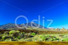 Qdiz Stock Photos Teide Volcano Landscape on Tenerife,  #blue #Canary #island #landmark #landscape #mountain #national #natural #nature #park #peak #rock #sky #Spain #speed #spring #summer #Teide #Tenerife #Travel #volcanic #volcano